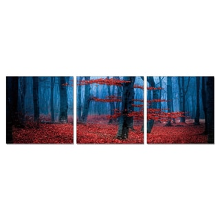 Furinno SeniA 'Enchanted Forest' 3-panel Wall-mounted Triptych Photography Prints