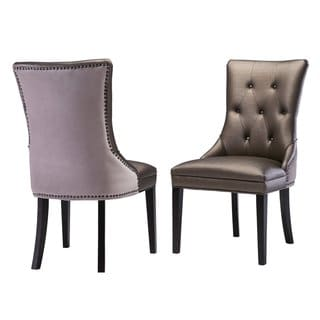 Ester Bronze Birch/Faux Leather/Velvet Chair (Set of 2)