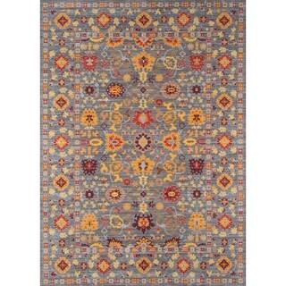 Fallon Grey Floral Area Rug (8' x 10')
