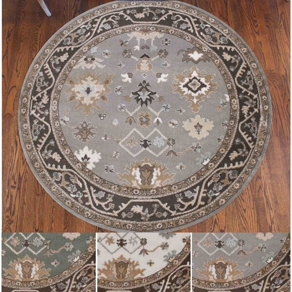 Shop Catherine Aztec Bone Grey Green Olefin Area Rug 5 3