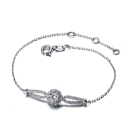 Collette Z Sterling Silver Cubic Zirconia Sphere Bracelet - White