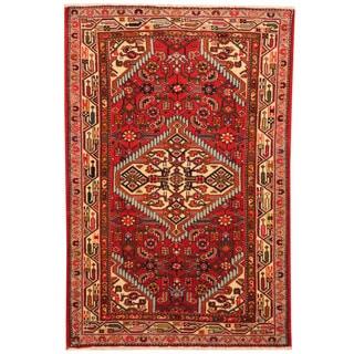 Herat Oriental Persian Hand-knotted Hamadan Wool Rug (2'6 x 3'10)