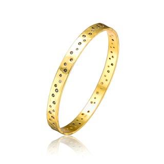 Collette Z Gold Overlay Multi-Stone Bangle Bracelet