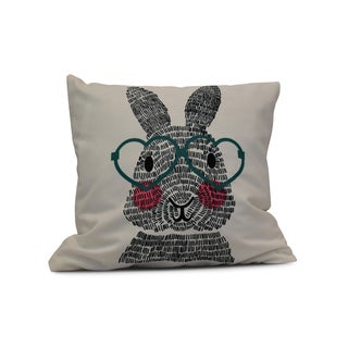 E by Design 20-inch What's Up Bunny Holiday Animal Print Pillow