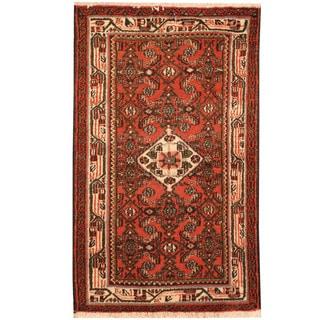 Herat Oriental Persian Hand-knotted Hamadan Wool Rug (2'6 x 4')