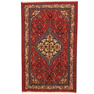 Herat Oriental Persian Hand-knotted Hamadan Wool Rug (2'6 x 4'1)