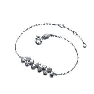 Collette Z Sterling Silver Cubic Zirconia Ivy Bracelet