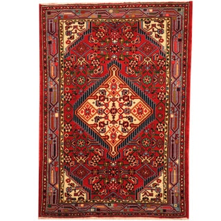 Herat Oriental Persian Hand-knotted Hamadan Wool Rug (2'7 x 3'8)