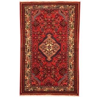 Herat Oriental Persian Hand-knotted Hamadan Wool Rug (2'7 x 4')
