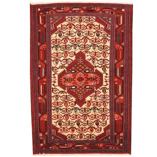 Herat Oriental Persian Hand-knotted Hamadan Wool Rug (2'7 x 3'10)