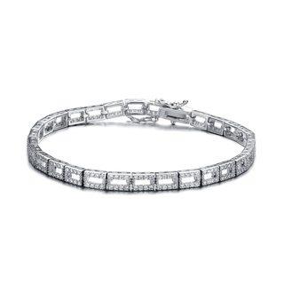 Collette Z Sterling Silver Cubic Zirconia Mirror Bracelet