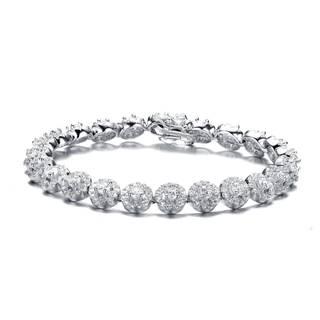 Collette Z Sterling Silver Cubic Zirconia Wreath Bracelet