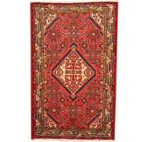Herat Oriental Persian Hand-knotted Hamadan Wool Rug (2'7 x 4'2)