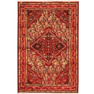Herat Oriental Persian Hand-knotted Hamadan Wool Rug (2'8 x 4')