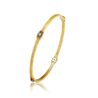 Collette Z Gold Overlay Cubic Zirconia Accent Bangle Bracelet