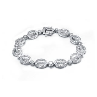 Collette Z Sterling Silver Cubic Zirconia Scepter Bracelet