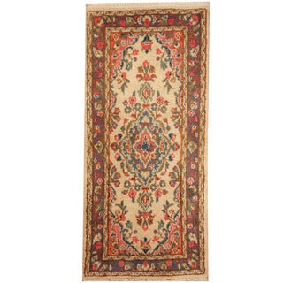 Herat Oriental Persian Hand-knotted Kerman Wool Rug (2' x 4'2)