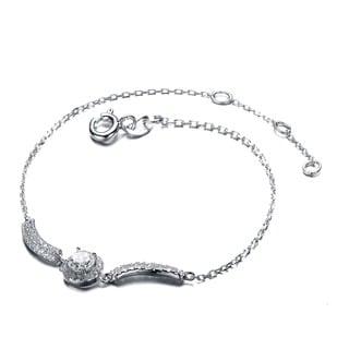 Collette Z Sterling Silver Cubic Zirconia Center Stone Bracelet