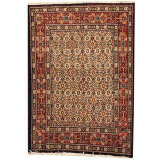 Herat Oriental Persian Hand-knotted Moud Wool Rug (2'8 x 3'9)