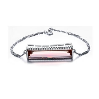 Collette Z Sterling Silver Rose Cubic Zirconia Bracelet