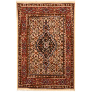 Herat Oriental Persian Hand-knotted Moud Wool Rug (2'7 x 3'10)