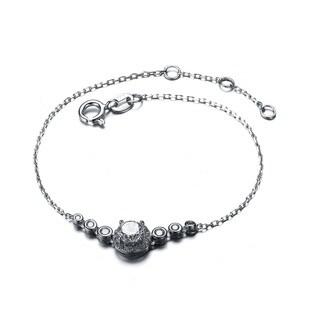 Collette Z Sterling Silver Cubic Zirconia Seven Stone Bracelet