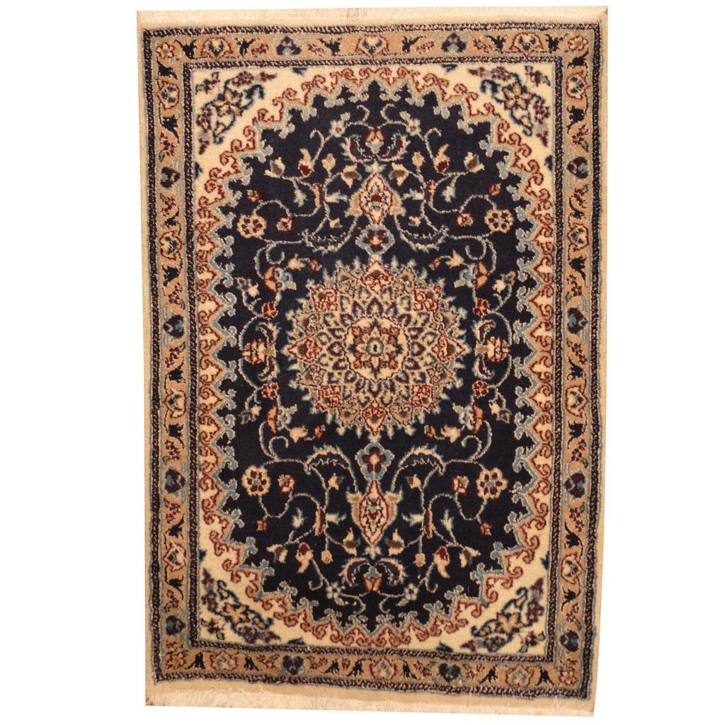 Herat Oriental Persian Hand-knotted Nain Wool & Silk Rug ...