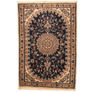 Herat Oriental Persian Hand-knotted Nain Wool & Silk Rug (2'9 x 4'2)