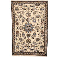 Herat Oriental Persian Hand-knotted Nain Wool & Silk Rug (2'9 x 4'3)