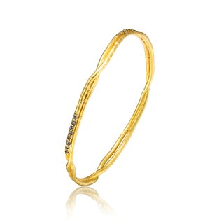 Collette Z Gold Overlay Cubic Zirconia Twist Bracelet