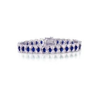 Collette Z Sterling Silver Blue Cubic Zirconia Tennis Bracelet