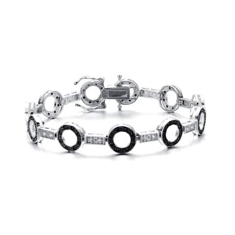 Collette Z Sterling Silver Black Cubic Zirconia Bracelet