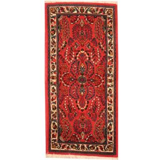 Herat Oriental Persian Hand-knotted Sarouk Wool Rug (2'3 x 4'8)