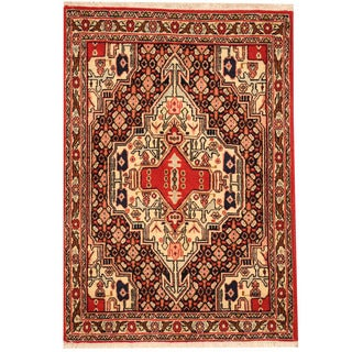 Herat Oriental Persian Hand-knotted Senneh Wool Rug (2'5 x 3'5)