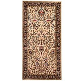 Herat Oriental Persian Hand-knotted Tabriz Wool Rug (2'4 x 4'6)