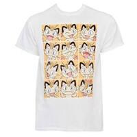 Pokemon Meowth Grid T-Shirt