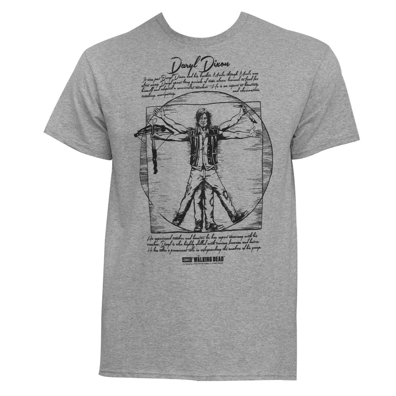 Walking Dead Vitruvian Daryl Dixon T-Shirt (XXL), Men's, ...