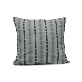 E by Design 20-inch Watercolor Stripe Stripe Print Pillow