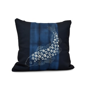 E by Design 20-inch Fish Pool Animal Print Pillow
