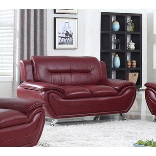 Alice Faux Leather Modern Lounge Loveseat
