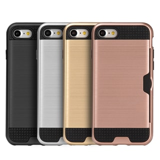 Black TPU and Silk Apple iPhone 7 Hybrid Card To Go Case
