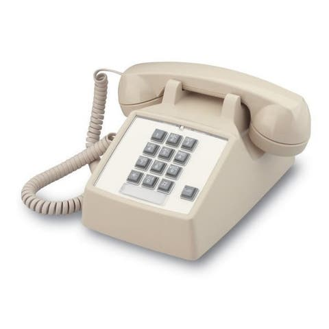 Cortelco 2500 Neutral Basic Desk Phone with Flash - Ash
