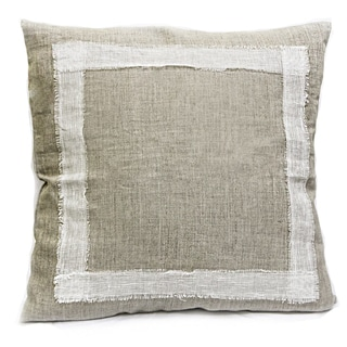 Sagebrook Home Joyce White Linen Decorative Pillow
