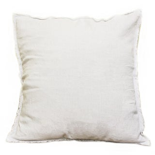 Sagebrook Home White Linen 20-inch Square Decorative Pillow
