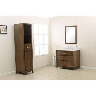 Legion Furniture 36-inch Antique Coffee and Quartz Top 3-piece Bathroom Vanity Set