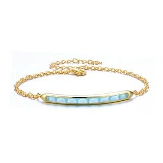 Collette Z Gold Overlay Ice Blue Cubic Zirconia Bracelet