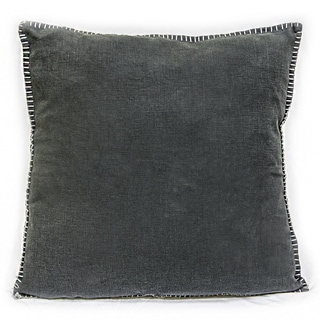 Sagebrook Home Juno-Linen Decorative Pillow-Charcoal