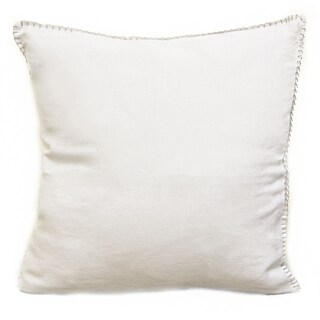 Sagebrook Home Juno White Linen Decorative Pillow