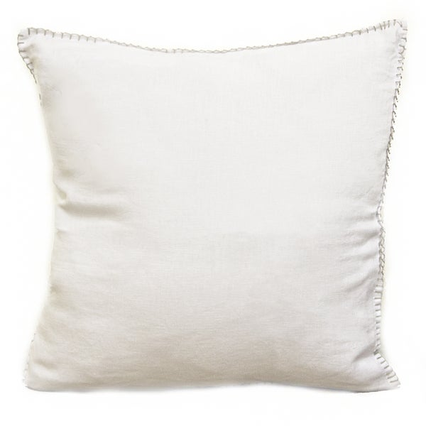 Shop Sagebrook Home Juno White Linen Decorative Pillow Free Delectable Overstock Decorative Pillows