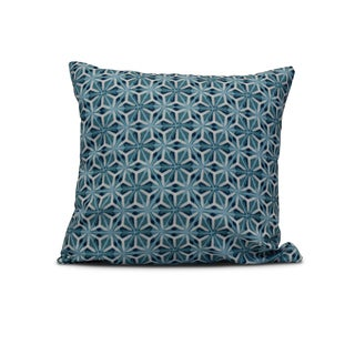 E by Design 20-inch Water Mosaic Geometric Print Pillow